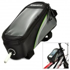 "ROSWHEEL 12496S-G5 4.2"" Bicycle Bike Bag w/ Earphone Jack for Cell Phone - Black + Green"