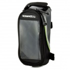 "ROSWHEEL 12496S-G5 4.2"" Bike Bag w/ 3.5mm Earphone Hole - Black"