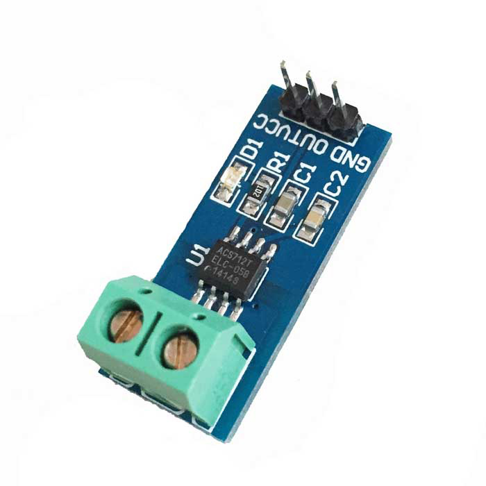 ACS712 5A Current Sensor Module - Blue itead acs712 current sensor module dc ┬▒ 5a ac current detection module works w official arduino