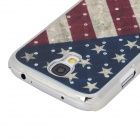 Housse de protection Motif USA Flag Retour w / Crystal pour Samsung Galaxy i9500 S4 - multicolore