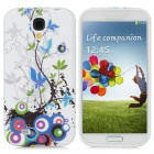 Protective Branch Pattern Back Case for Samsung Galaxy S4 i9500 - Multicolored