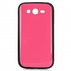 Protective TPU Soft Back Case for Samsung Galaxy Grand i9080 / Duos i9082 - Deep Pink + Black