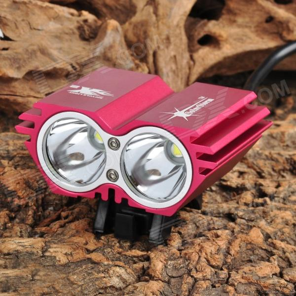 SolarStorm X2 1200lm 4-Mode White Bicycle Light w/ 2 x Cree XM-L U2 - Deep Pink (4 x 18650) серова м когда придет твой черед