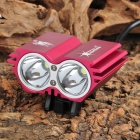 SolarStorm X2 1200lm 4-Mode White Bicycle Light w/ 2 x Cree XM-L U2 - Deep Pink (4 x 18650)
