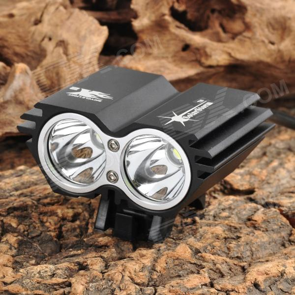SolarStorm X2 1200lm 4-Mode White Bike Light w/ 2*Cree XM-L U2 - Black