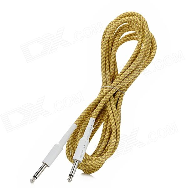 Instrument Guitar Bass Cable Cord - Yellow + Brown (5m-Length) секатор плоскостной 180 мм