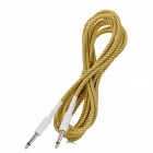 Instrument Guitar Bass Cable Cord - Yellow + Brown (5m-Length)