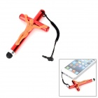 YB-002 Cross Style Capacitive Screen Stylus w/ 3.5mm Anti-dust Plug - Red