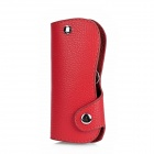 Stylish Universal Leather Key Cover Holder Pouch - Red
