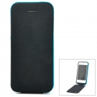 Rechargeable 3200mAh External Power Battery Back Case w/ PU Leather Cover for iPhone 5 - Black