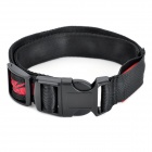 Adjustable Nylon Dog Collar w/ Built-in LED Flash - Red + Black / Size L (2 x CR2016)