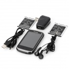 "S6810 Android 4.0 GSM Bar Phone w/ 3.5"" Capacitive Screen, Quad-Band and Wi-Fi - Black"