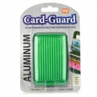WL072 Aluminum Card Guard for Credit / Business Cards - Green + Black