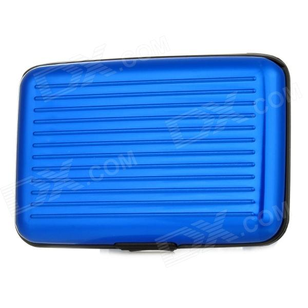 WL072 Aluminum Card Guard for Credit / Business Cards - Blue + Black