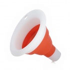 Stylish Practical Mini Collapsible Silicone Funnel - White + Red