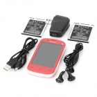 "S6810 Android 4.0 GSM Bar Phone w/ 3.5"" Capacitive Screen, Quad-Band and Wi-Fi - Red"