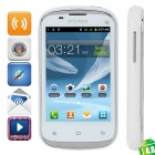 "S6810 Android 4.0 GSM Bar Phone w/ 3.5"" Capacitive Screen, Quad-Band and Wi-Fi - White"