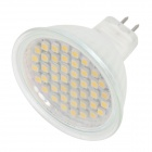 GU5.3 MR16 1.5W 100lm 44-SMD 3528 LED Warm White Bulb Chimney - Translucent