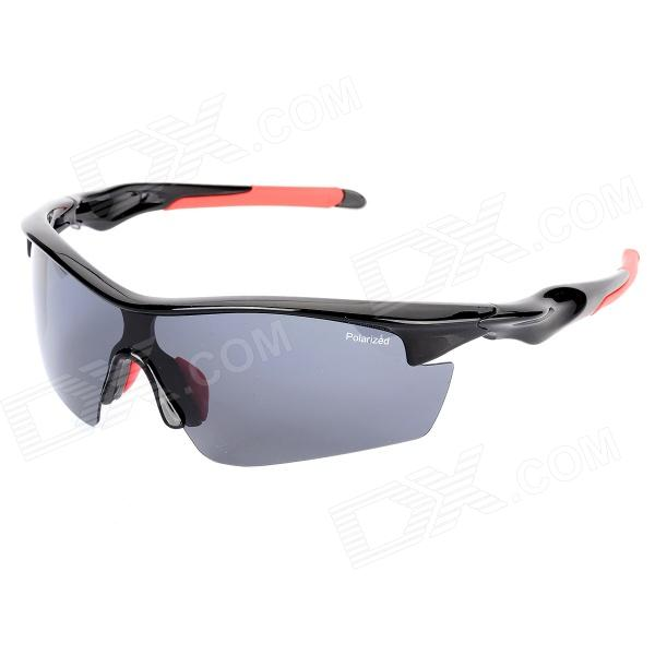 KaShiLuo 9206 Men's Bicycle Riding Polarized UV400 Protection Sunglasses - Black + Red