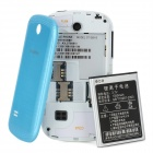 "S6810 Android 4.0 GSM Bar Phone w/ 3.5"" Capacitive Screen, Quad-Band and Wi-Fi - Blue"