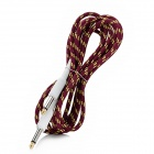 Instrument Guitar Bass Cable Cord - Dark Red + Yellow (3m-Length)
