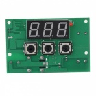 XH-W1301 3-Digit Red LED Digital Smart Thermostat Intelligent Temperature Controller - Green