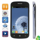 "S7 (R830) Android 4.1 GSM Bar Phone w/ 4.0"" Capacitive Screen, Quad-Band and Wi-Fi - Black + Grey"