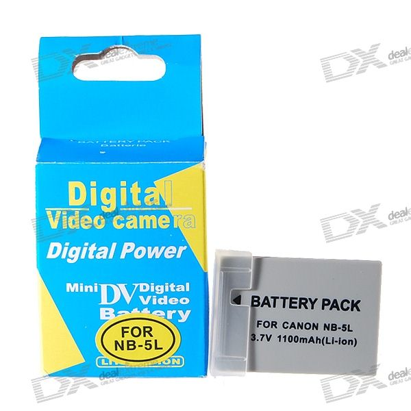 NB5L Compatible 3.7V 1100mAh Replacement Li-Ion Battery Pack for IXUS 870/900/980/970/860
