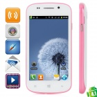 """S7 (R830) Android 4.1 GSM Bar Phone w / 4.0 """"kapazitiver Schirm, Quad-Band-und Wi-Fi - Weiß + Pink"""