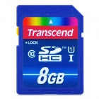 Genuine Transcend UHS-I 300X SDHC Memory Card - Blue + Red (8GB / Class 10)