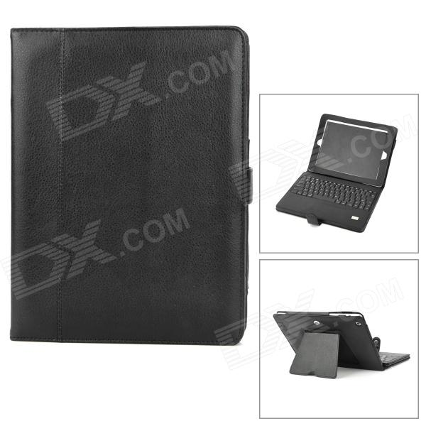 Protective PU Leather Case w/ Bluetooth V3.0 Keyboard for Ipad 2 / 4 / The New Ipad - Black