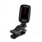 "WST-640G 1.2"" LCD Clip-On Tuner for Guitar - Black (1 x CR2032)"