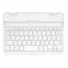 MINI-116 Stylish 59 Key Wireless Bluetooth Keyboard for iPad Mini - White + Silver