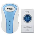 VOYE Wireless Plastic Door Bell - White + Translucent Blue
