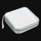 XiongYe Portable CD Storage Bag Box - White + Grey (Holds 20-CD)