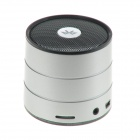 Mini USB Rechargeable Bluetooth V2.0 Music Speaker w/ TF Card Slot / FM Radio - Silver + Black
