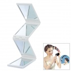 Portable 4-Fold Folding Cosmetic Mirror - White