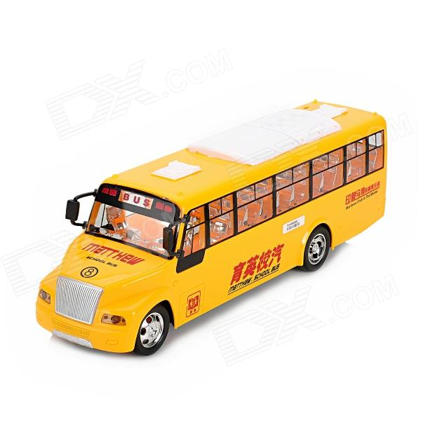 Matthew 2-CH Radio Control R/C School Bus w/ Light / Music - Yellow 7 hd bluetooth touch screen car stereo radio 2 din fm mp5 mp3 usb aux camera 318