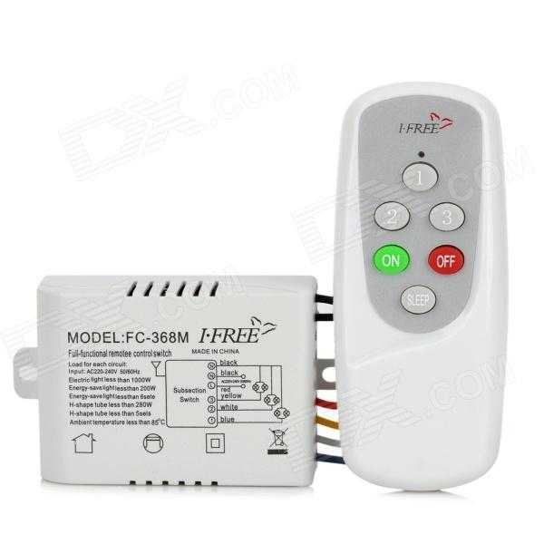 IFREE FC-368m 3-Kanal-Digital-Control Switch - Weiß + Grau
