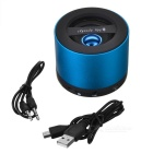 Mini USB recargable Bluetooth V2.1 Music Speaker w / TF Slot / FM Radio - Azul + Negro