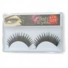 ZX-029 Black False Eyelashes for Beauty Makeup (Pair)