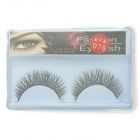 ZX-076 Black False Eyelashes pour la beauté Maquillage (Paire)
