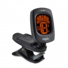 "T-29G 1.1"" LCD Clip Tuner for Guitar - Black"