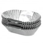 Jianming JM-8081 Ellipse Shape DIY Food Molds - Silver (80 PCS)