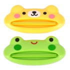 HANATA YJ-032 Multifunction Plastic Squeezer for Toothpaste / Shampoo + More - Green + Yellow (2PCS)