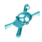 3D Skeleton Style Protective Plastic Case for Iphone 4S - Light Blue