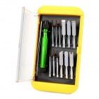BEST BST-302 14-in-1 Precise Screwdriver Tool Kit - Green + Black