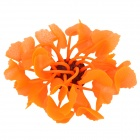 SH 138 Rubber + Silicone Lotus Style Soft Coral Decoration for Fish Tank / Aquarium - Orange