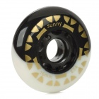 Outdoor Sports 76mm-Durchmesser Rollerskate Wheel - Black + White