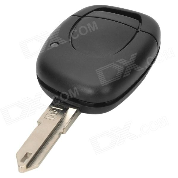 Replacement 1-Button Remote Key Cover Shell Case for Renault - Black + Silver